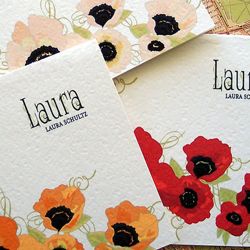 Personalized-Poppy-Note-Cards