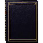Pioneer Photo Albums 3-Ring Bi-Directional Memo Pocket Album, Black