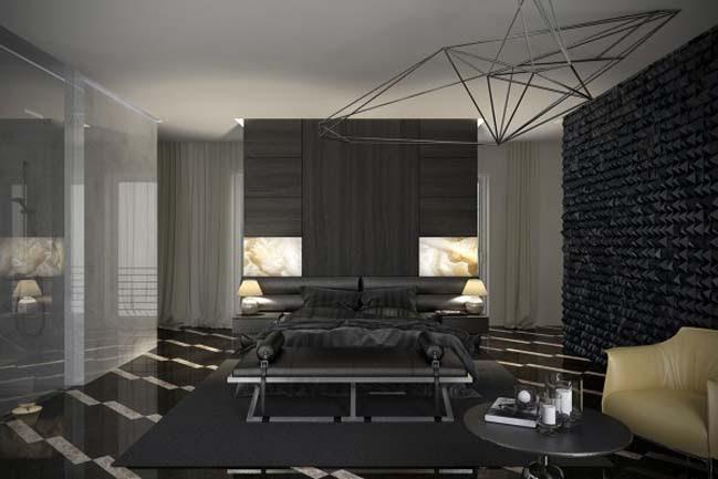Luxury Master Bedroom Design With Dark Tone