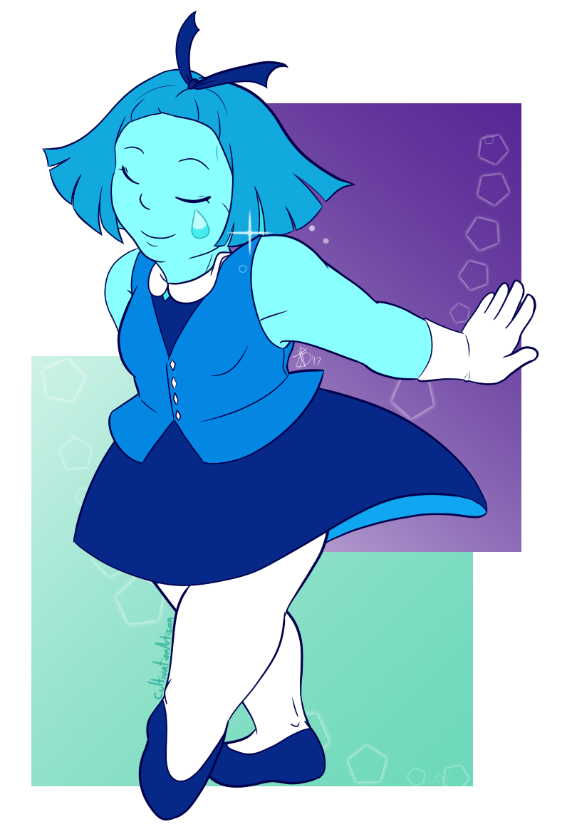 """At your service, my Diamond~. "" Aquamarine!"