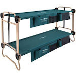 Disc-O-Bed Large Cam-O-Bunk Camping Double Cot with Organizers & Leg Extensions by VM Express