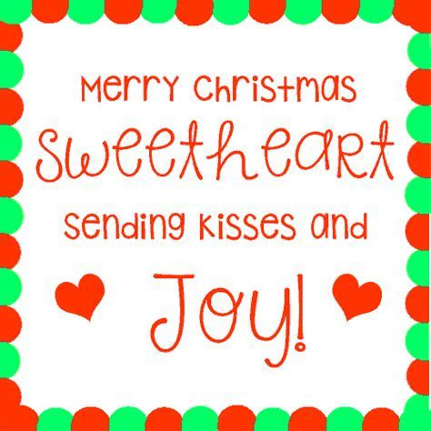 Merry Christmas Sweetheart! Free Love eCards, Greeting