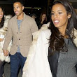 Keeping her close! Protective father-to-be Marvin Humes tags along with Rochelle and The Saturdays as they jet to New York