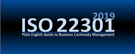 ISO 22301 Business Continuity Library