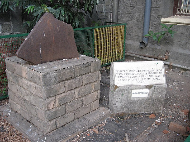 """Image result for """"Erected by Public Subscription in sacred memory of The Officers and Men of the Bombay Fire Services who lost their lives in the Bombay Dock explosion"""