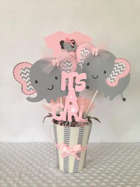 Tematica De Baby Shower Nina.28 Ideas Baby Shower Elefante