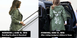 "Melania Trump Wore the I REALLY DON'T CARE"" Jacket Twice Yesterday"