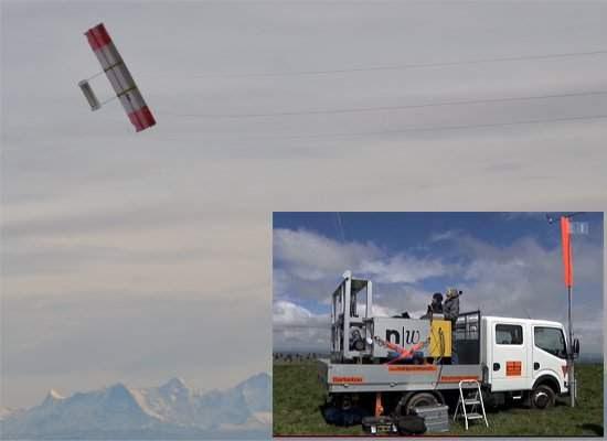 Empinador robótico de pipas gera energia eólica