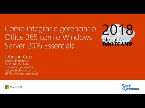 Integração do Office 365 com o Windows Server 2016 Essentials - #GlobalAzureBR
