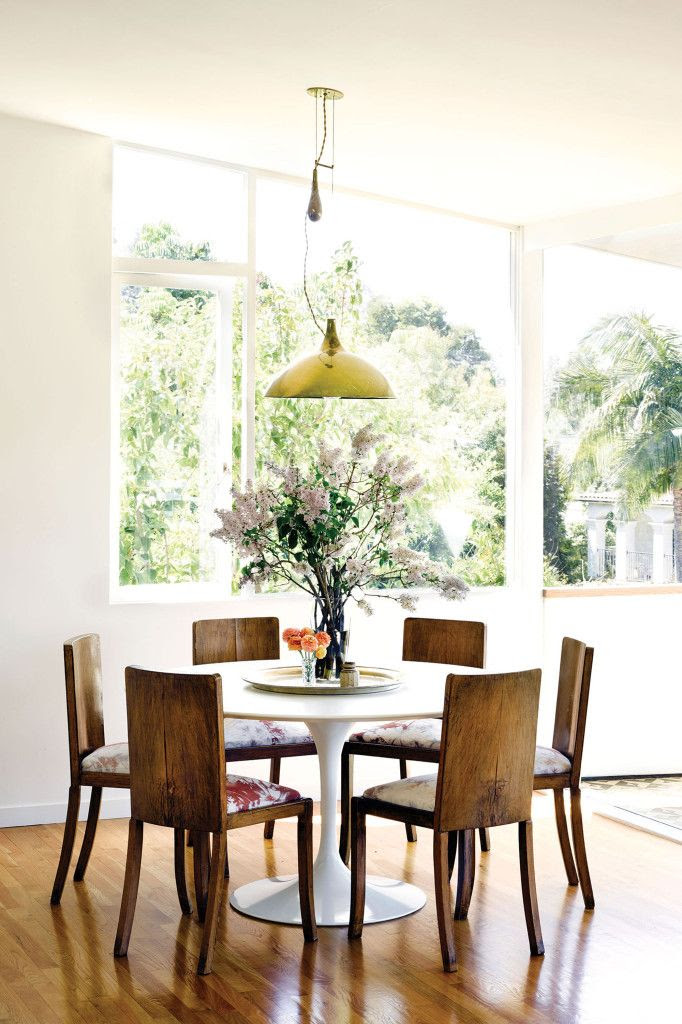 Le Fashion Blog -- Fashionable Home: Jessica De Ruiter's Mid-Century Modern Oasis in Silver Lake -- Paavo Tynell Pendant Light in Dining Room -- Via C Home -- photo 5-Le-Fashion-Blog-Fashionable-Home-Jessica-De-Ruiter-Mid-Century-Modern-Silver-Lake-Paavo-Tynell-Dining-Room-Via-C-Home.jpg