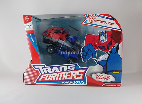 Transformers Optimus Prime Animated Voyager - caja (by mdverde)