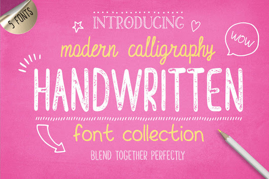 Free Handwritten Font Collection - Dealjumbo.com — Discounted design bundles with extended license!