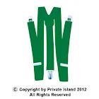 Private Island Irish ST Patricks Kelly Green Suspenders 6872