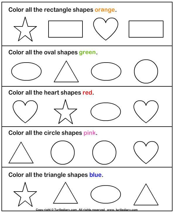 Kindergarten Worksheets Math Shapes - Preschool Worksheet Gallery