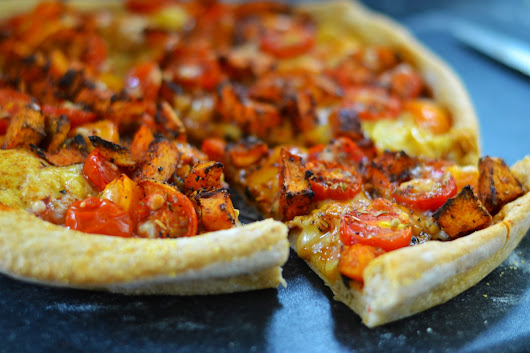 Better than Domino's: Vegan Texas BBQ Pizza with Roasted Sweet Potato