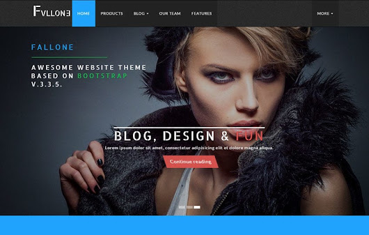 Fallone Awesome HTML5 Bootstrap Website Theme - w3layouts.com