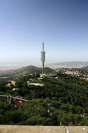 The Torre de Collserola in the Tibidabo Hill i...