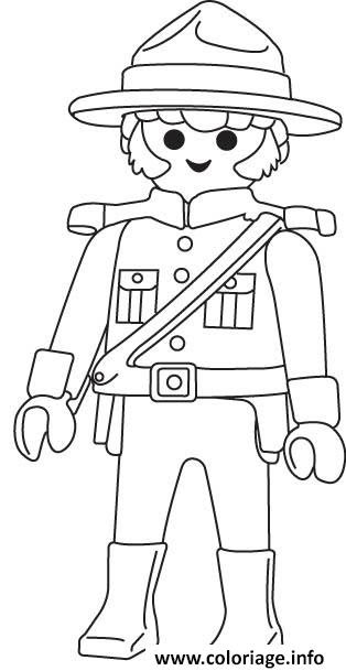 Coloriage Playmobil Police Jecoloriecom