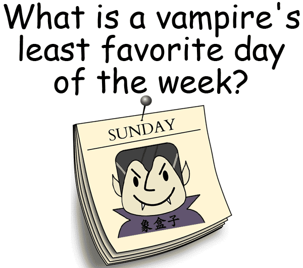Sunday vampire halloween