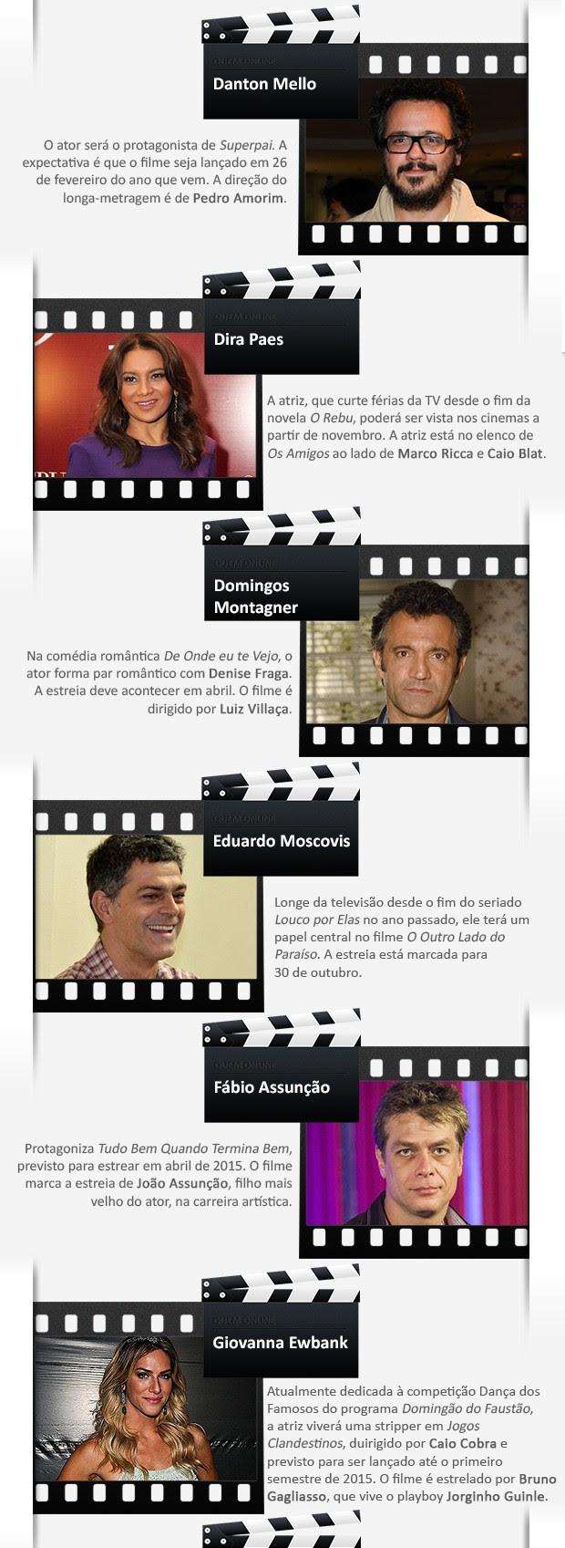 Filmes brasileiros 3 (Foto: Arte: Eduardo Garcia)