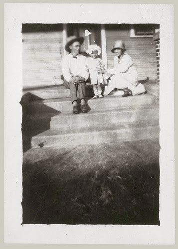 Trio on steps