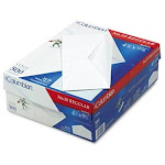 "Meadwestvaco Columbian Plain White Business Envelope - #10 [4.12"" X 9.5""] - 24lb - Gummed - Wove - 500 / Box - White (CO125)"