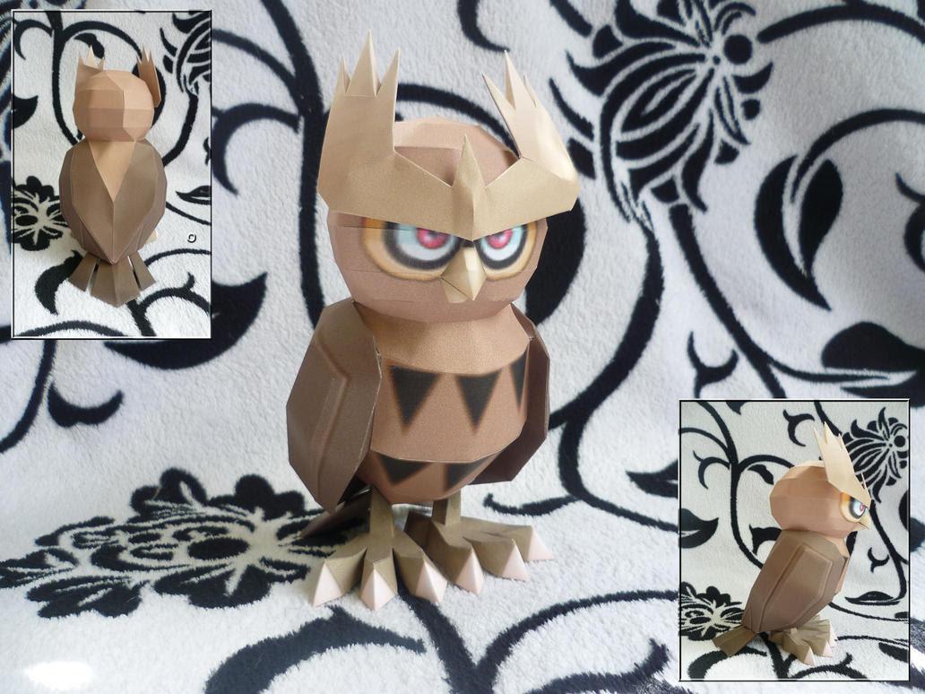 Pokemon Noctowl Papercraft