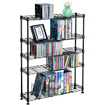 Atlantic Steel Shelving - Stand - VHS tape x 80 DVD x 152 CD x 275