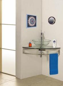 A Simple and Sleek but Always Stylish Corner Bathroom Vanity ...