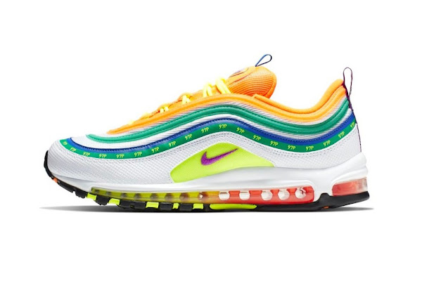 "best sneakers c4300 4ea12 Nike s Air Max 97 ""London Summer of Love"" Is a Colorful Homage to the City"