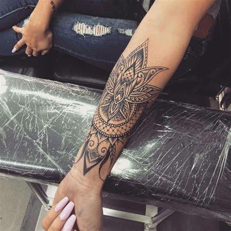 mandala forearm tattoo designs ideas meaning