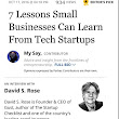 7 Small Businesses Lessons From Tech Startups - Planning, Startups, Stories