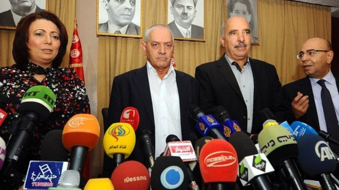 Tunisian quartet in file photo from 2013