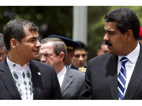 Rafael Correa y Nicolas Maduro, su par venezolano  (ANSA).