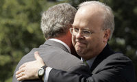 Karl Rove, George W. Bush, Republican Party, Secret Handshake, Freemason, Freemasonry, Freemasons, Masonic, Signals, Signs