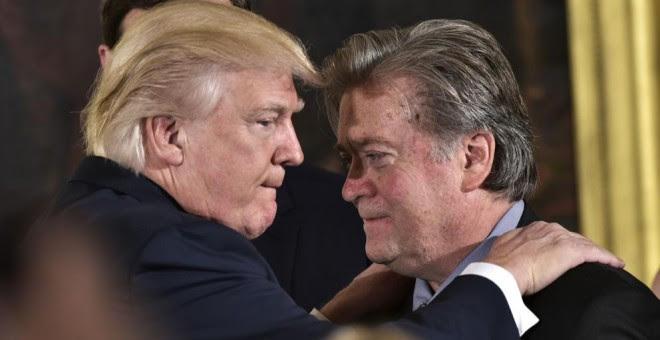 Trump y Bannon, el año pasado. AFP