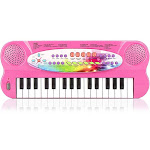 aPerfectLife 32 Keys Piano Keyboard for Kids Multifunction Portable Piano Electronic Keyboard Music Instrument for Kids Early Learning Educational Toy