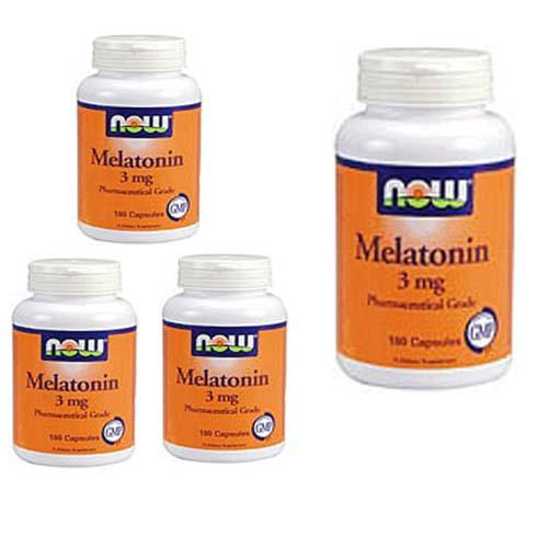 Now Melatonin - 3 mg 180 capsules (Buy 3 Get 1 Free)