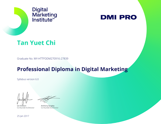 Credential for Professional Diploma in Digital Marketing