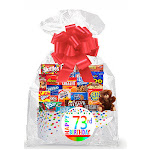 Cakesupplyshop Item#073BSG Happy 73rd Birthday Rainbow Thinking of You Cookies, Candy & More Care Package Snack Gift Box Bundle Set - Ships Fast!