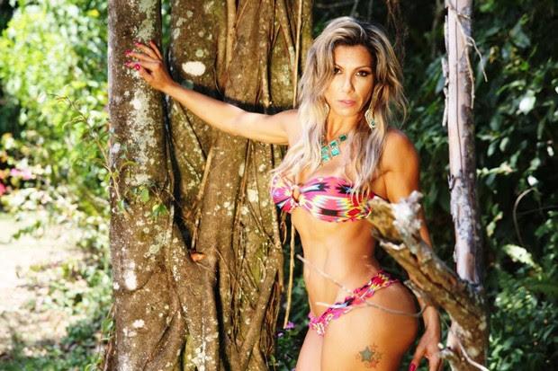 Madrinha de Bateria da Acadêmicos do Tatuapé Nagila Coelho  (Foto: Divulgação)
