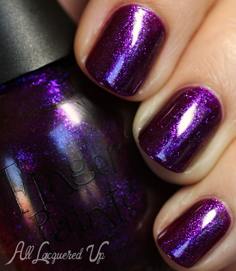 finger paints plum startled nail polish swatch fall surprises 2012 Finger Paints Fall of Surprises Fall 2012 Nail Polish Collection Swatches and Review