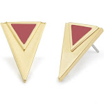 Gold Earrings - Triangle Shaped Stud Earrings - Gifts for Mom - Bridesmaid Gifts - Anniversary Gift for Her - Graduation Gifts for Her