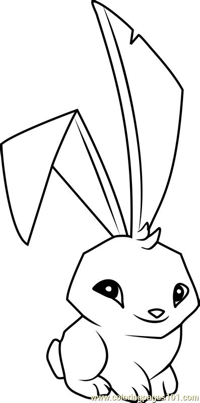 bunny animal jam coloring page  animal jam coloring