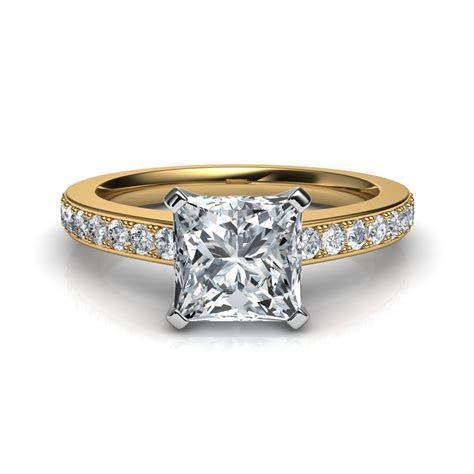 Novo Princess Cut Diamond Engagement Ring Natalie Diamonds