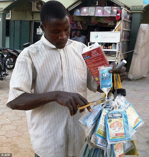 Image result for picture of a nigeria holding poison