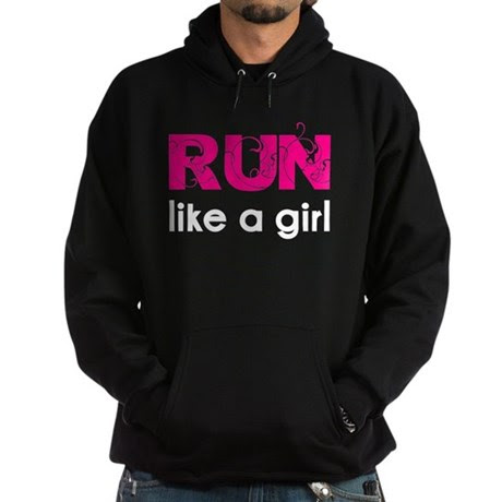Run like a girl Hoodie (dark)