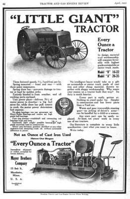 1918 Little Giant ad in Tractor and Gas Engine Review