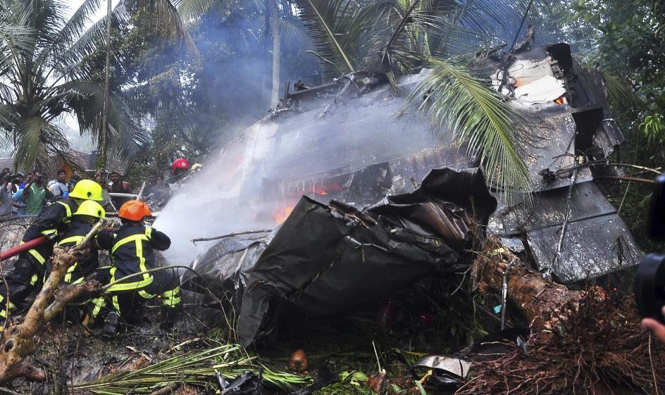 Accidente aéreo en Sri Lanka