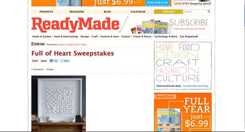 readymade giveaway